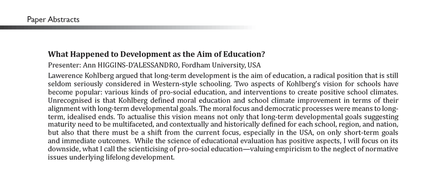 programme cultivating morality human beings nature and the  what happened to development as the aim of education
