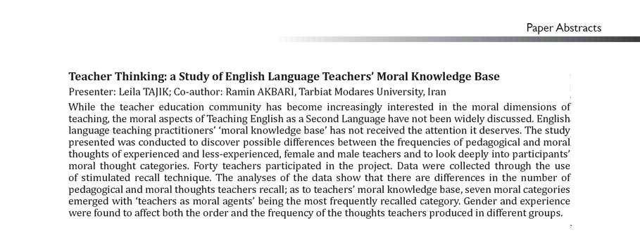 moral teachers Teachers are moral agents, and education as a whole, and thus classroom 22 rv bullough jr / teaching and teacher education 27 (2011) 21e28.